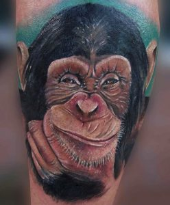 tattoo studio tenerife canary canarie spain spagna monkey face smile