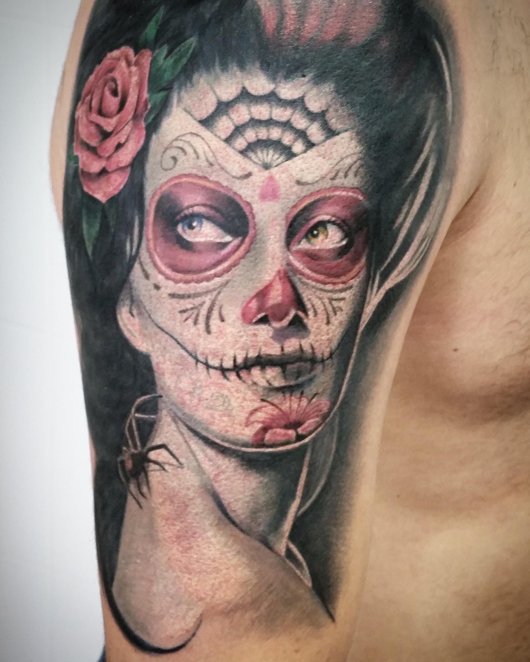 catrina tattoo tenerife tatuajes sugar skull
