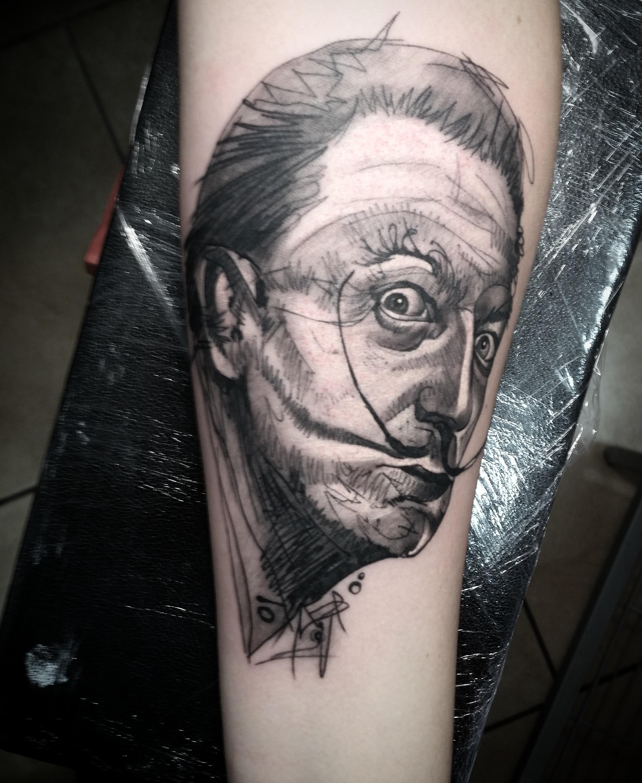 tattoo dalí tattuajes tenerife retrato realismo